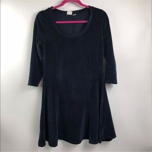 Somedays lovin | 3/4 sleeves swing velour dress